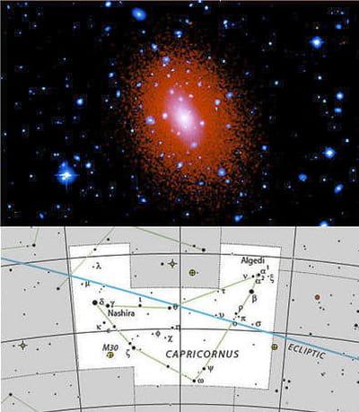 au-dessus : image de trois amas stellaires, abell 2029, ms 2137.3-2353, and ms