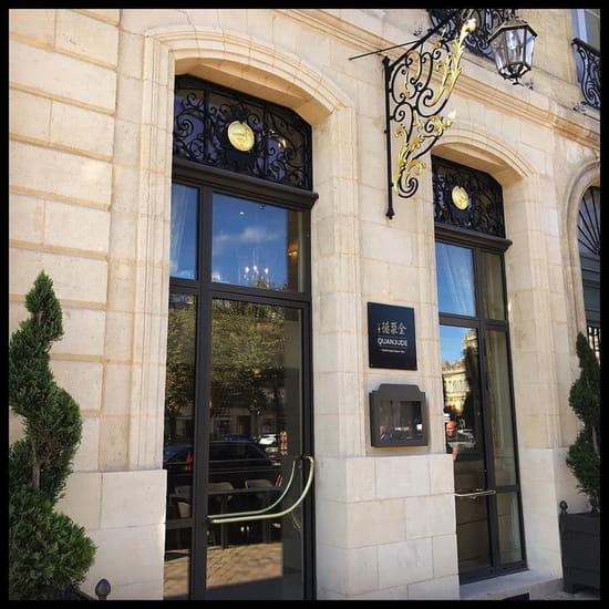 Restaurant : Quanjude Bordeaux  - entrée du restaurant -   © quanjude
