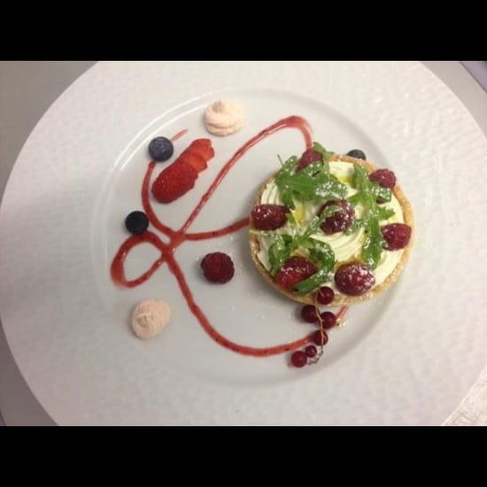 Dessert : L'Envie  - Tartelette pistache framboise -