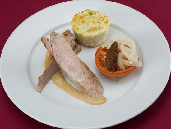 Plat : Le Parc  - Tronçon de filet Mignon de porc -   © Le Parc Restaurant