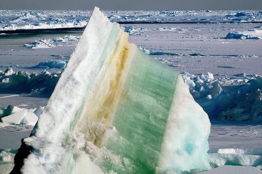 Des étages de glace
