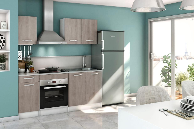 Une cuisine ouverte avec cr dence - Comment poser une credence de cuisine ...
