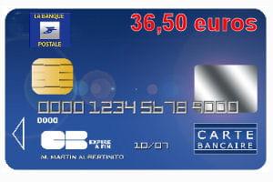 20 ex-aequo : La Banque postale avec une carte bleue Visa ou Mastercard à 36,50 euros par an