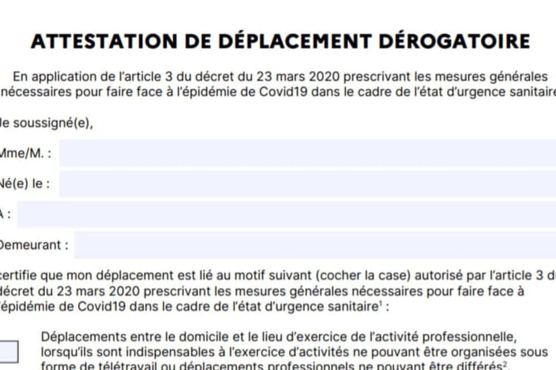 Nouvelle attestation de déplacement dérogatoire : la nouvelle ...
