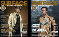 les couvertures du 1ernuméro de surface football magazine.