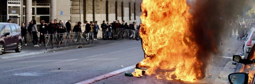 Lycées bloqués: encore des violences, les images