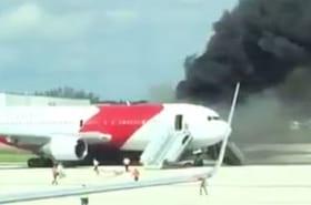 Floride : un Boeing 767 prend feu, plusieurs blessés dans l'incendie