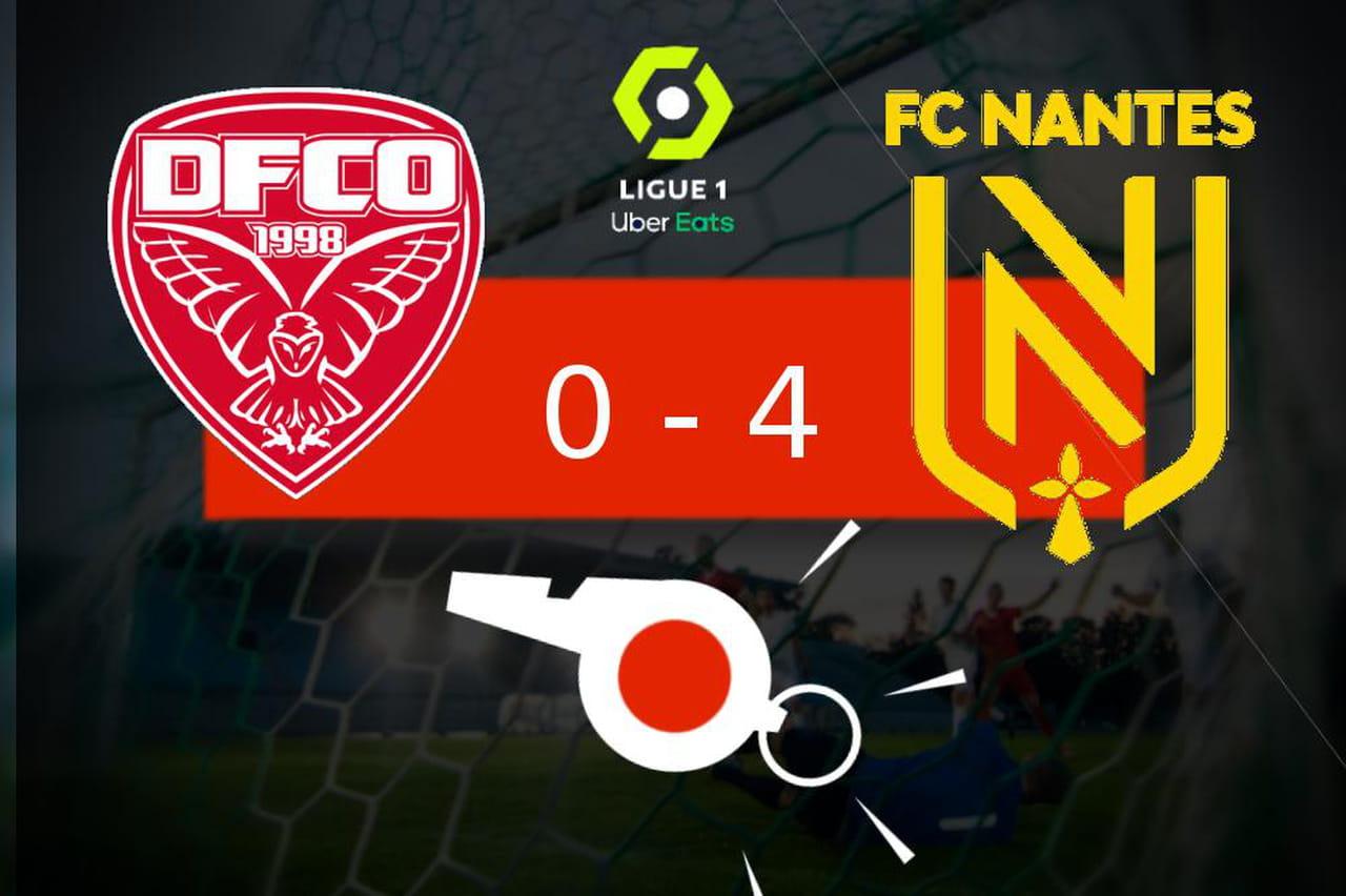 Dijon - Nantes: le Dijon FCO plonge (0- 4), ce quil faut retenir