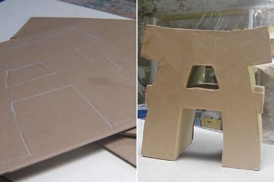 Fabriquer un tabouret en carton - Fabriquer un chandelier en carton ...