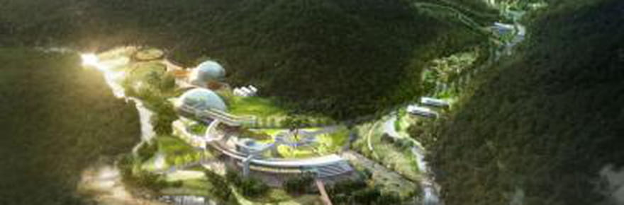 Des dômes de verre géants pour préserver la nature