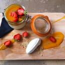 Péniche Loupika  - Pannacotta fraise -   © christelle