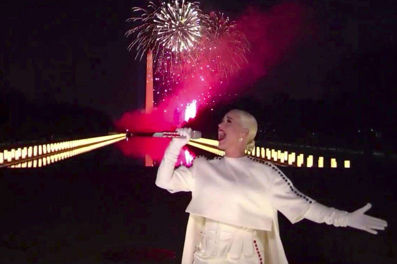 Katy Perry: la vidéo de son incroyable show à l'investiture de Joe Biden