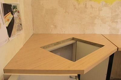 percer le trou de la plaque de cuisson. Black Bedroom Furniture Sets. Home Design Ideas