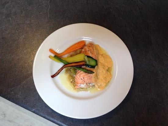 Plat : Le Grill & Pizz des Graves  - Roule de saumon et cabillaud et ses légumes du primeur -