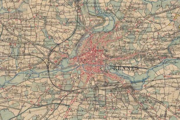 Rennes vers 1860