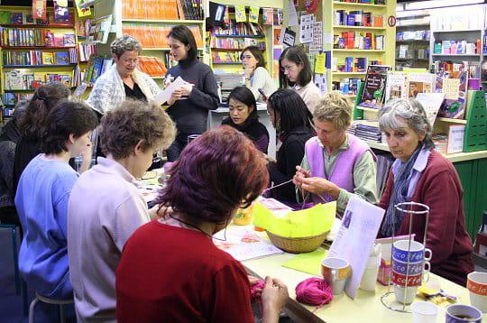 Café-tricot à la librairie Brentano's