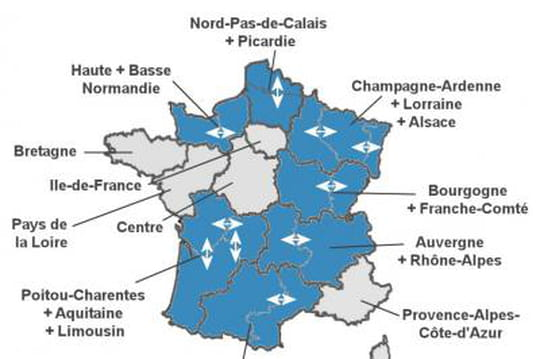Carte desnouvellesrégions: voici les13régions françaises