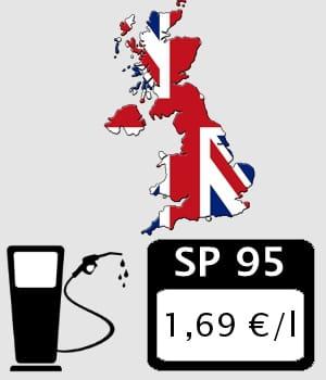 le prix de l'essence au royaume-uni.