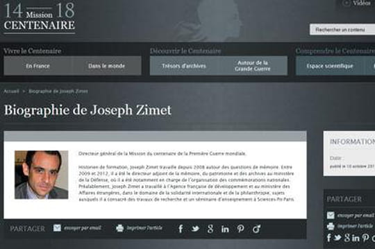 """Joseph Zimet: lemari """"de gauche"""" deRama Yade, pilote lecentenaire de14-18"""