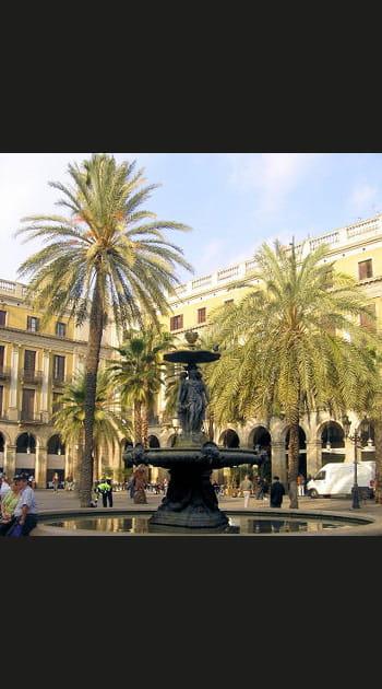 Plaza Reial, la place la plus vivante deBarcelone