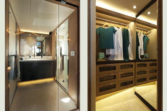 La salle de bain et le dressing - Dressing dans salle de bain ...