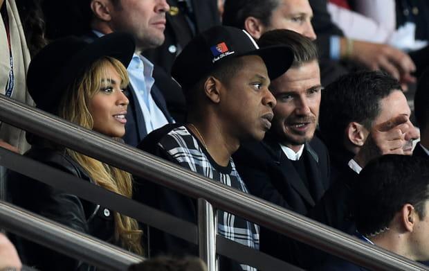 Beyoncé et Jay-Z avec David Beckham