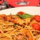 Plat : Tesoro d'Italia  - Linguine gamberetti  -