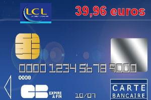 Carte Bleue Visa Lcl.26e Lcl Avec Une Carte Bleue Visa Ou Mastercard A 39 96