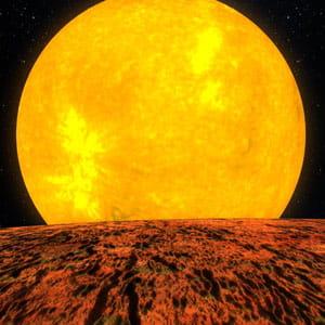 ci-dessus, nous voyons la représentation artistique de l'exoplanète kepler-10b.