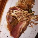 Au Petit Bonheur  - Magret de Canard jus a l'armagnac polenta au olives noir -