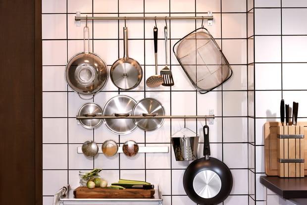 Des barres de crédence dans la cuisine