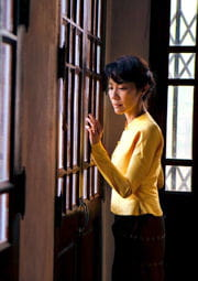 aung san suu kyi a été assignée à résidence pendant 15 ans