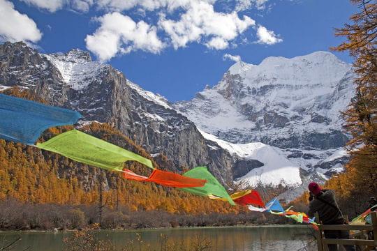 Dans le site spirituel tibétain du Sichuan