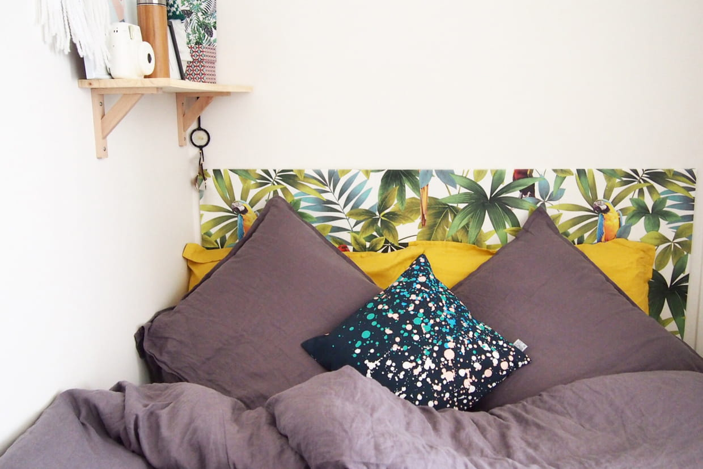 Papier Peint Pour Faire Tete De Lit une tête de lit tropicale