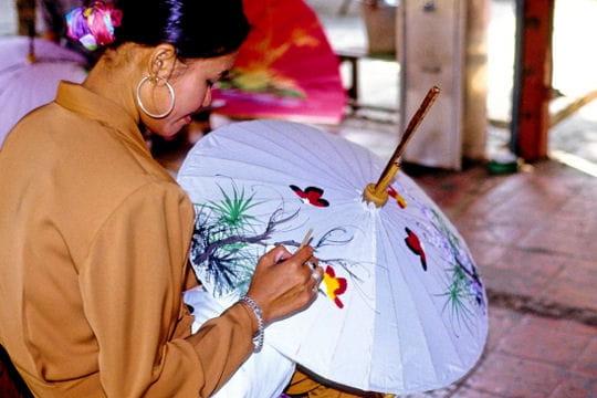 La peinture des ombrelles