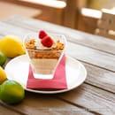 Dessert : Le Jardin des Sablons  - Crémeux Citron et Spéculoos -   © Les Sablons