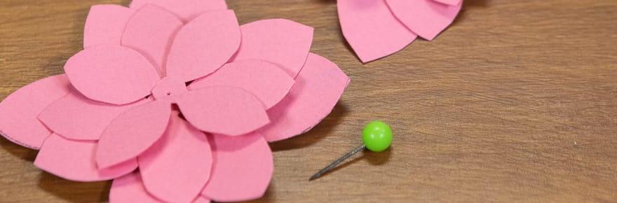 Fleur en papier: comment en fabriquer
