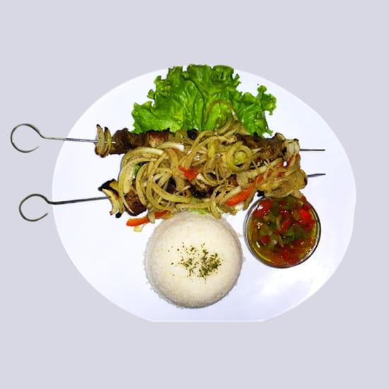 Le Khelkom Restaurant  - Brochettes au Khelkom Restaurant africain à paris -   © htt://www.lekhelkom.com