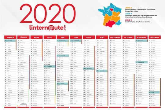 Calendrier 2020: calendrier gratuit à télécharger ou à imprimer