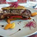 Plat : Le Nez dans la Cuisine  - Magret de canard farci au foie gras.  -