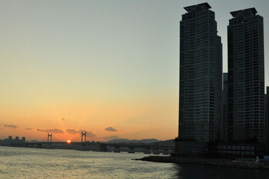 Coucher de soleil à Gangnam