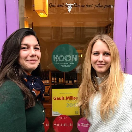 Restaurant : Koon  - Jeanne & Oriane, co-fondatrices -   © KOON