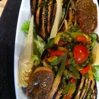 Entrée : Verona Antony  - assortiment de légumes grillées   -