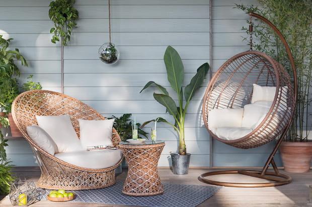 Une boule de relaxation pour la terrasse