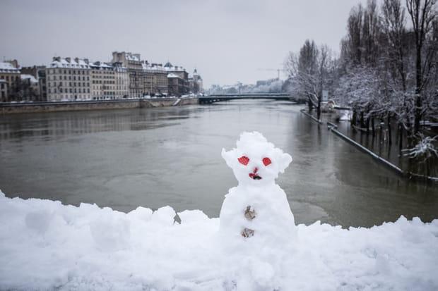 Les images de la neige à Paris et en France
