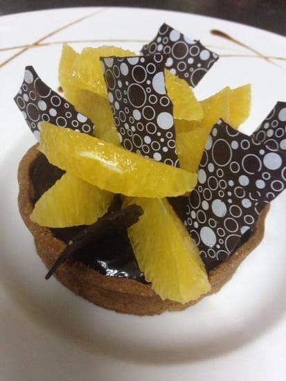 Les Moulins de Saint Aygulf  - Tartelette au Chocolat et ses Suprêmes d'Orange -   © Vincent Durin