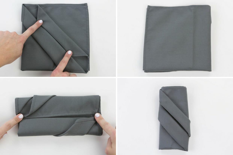 Pliage Serviette Facile Range Couverts pliage de serviette range-couverts : étapes 5 à 8