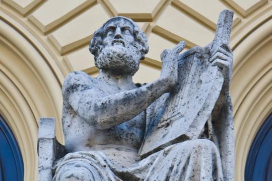 Homère: biographie du poète grec de l'Iliade et l'Odyssée