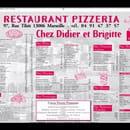 Restaurant : Chez Didier et Brigitte  - Carte chez Didier et Brigitte.  -