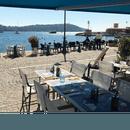 Restaurant : Lou Bantry  - En plein cœur de la zone semi-piétonne de Villefranche-sur-Mer, notre terrasse offre une exposition exceptionnelle sur la baie de St-Jean-Cap-Ferrat. -   © Lou Bantry